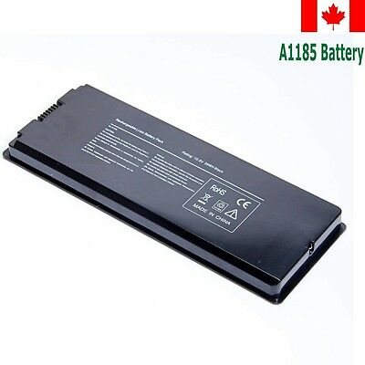 "A1185 Laptop Battery for Apple MacBook 13"" 13.3"" A1181 MA561 MA566 Black CA"