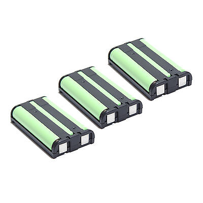 3X Home Phone Cordless NI-MH Battery For Panasonic HHR-P104 HHRP104 3.6V 850mAh