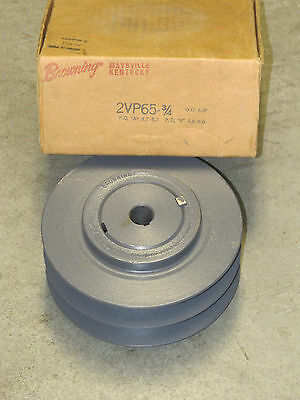 "BROWNING 2VP65- 3/4 2 Groove Variable Speed Pulley Sheave 6-1/2""(6.50"")OD"