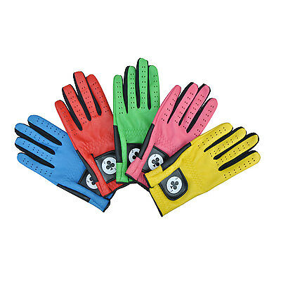 New Coloured Ladies Full Premium Leather Designerquality  'ace' Golf Gloves