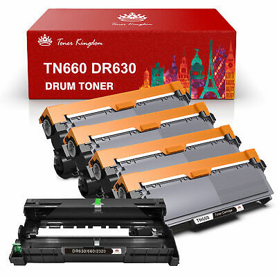 4 TN660 + 1 DR630 Toner Drum for Brother MFC-L2700DW MFC-L2740DW DR660 Printer 5
