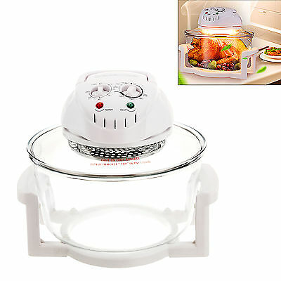 Uk~ Multi Cooker 1300W White Halogen Oven Bbq Roast Meals Convection Ovens12L