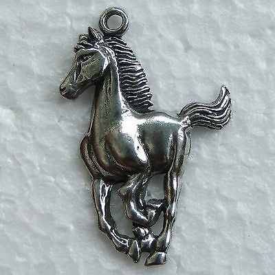 Horse Galloping Pewter Pendant Made in Australia 1 Bail Polished Necklace