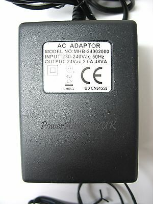 2 Amp 2000Ma 24 Volt Ac/ac Output Mains Power Adaptor/supply/charger/transformer