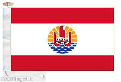 France French Polynesia Boat Flag Roped & Toggled