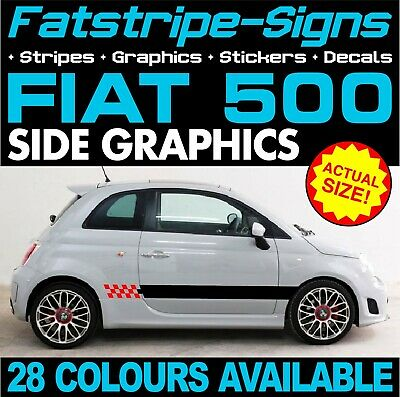 FIAT PUNTO GRANDE SPORT CHECKER CHEQUER CAR GRAPHICS STRIPES DECALS 1.2 1.4 1.6