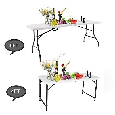 WestWood Heavy Duty Folding Table Portable Plastic Camping Garden Party Trestle