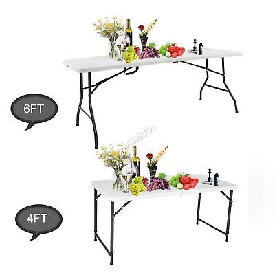 WestWood Portable Folding Trestle Table Heavy Duty Plastic Camping Garden Party