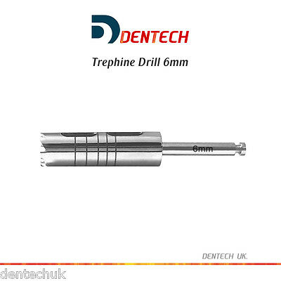 Trephine Drill 6Mm Dental Irrigation Instruments - Surgical Implant Lab Tools