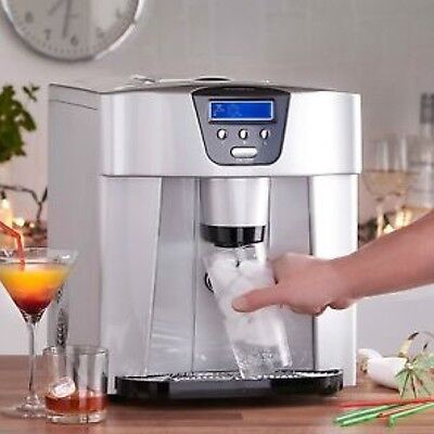 Digital Ice Cube Maker Silver Kitchen Speedy Ice Cube Dispenser 3 Sizes Cubes