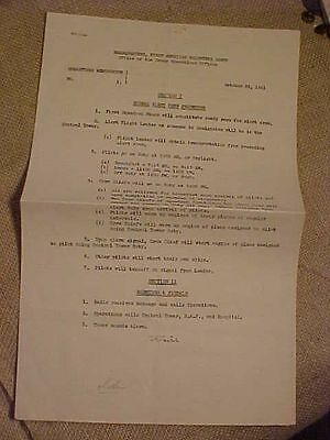 Rare Wwii Flying Tigers Avg 1941 Alert Crew Procedure / Code Words Document