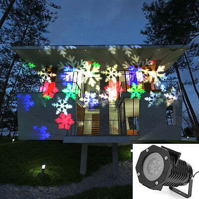 10 Pattern Laser Projector LED Light Christmas Xmas Party Outdoor Home UK Plug
