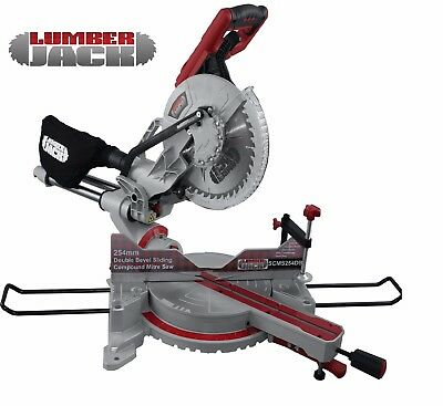 Lumberjack SCMS254DB 254mm Sliding Compound Mitre Saw Double Bevel
