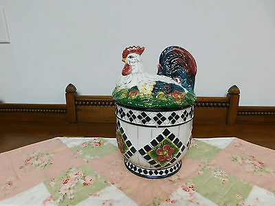 Modern 1970 now cookie jars kitchenware kitchen - Ceramic rooster cookie jar ...
