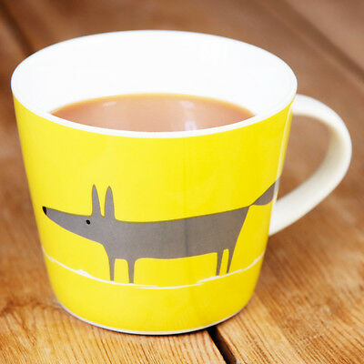New Scion Mr Fox Charcoal & Yellow Contemporary Fine China Personalised Gift Mug