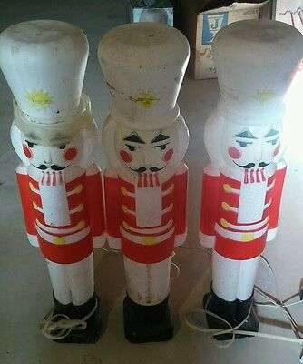Empire Outdoor Christmas Nutcracker Lighted Blow Molds Set of 3