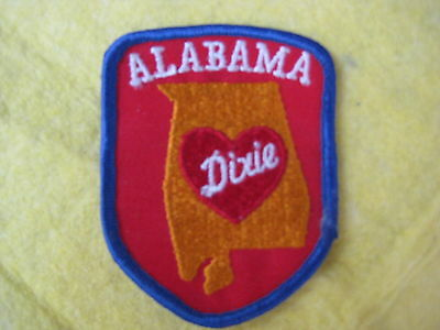 "Vintage State Of Alabama Patch 2 5/8"" X 3 1/4"""
