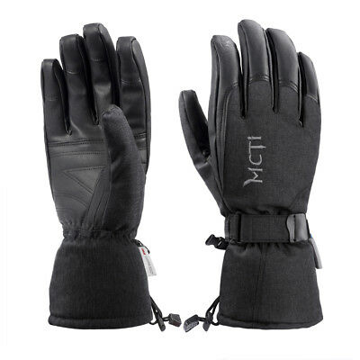 -30°F Mens Womens Waterproof Winter Ski Snowboard  PU Leather Thinsulate Gloves