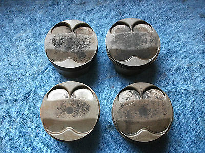 Kawasaki 1989 ZZR1100 Set of 4 Pistons with Rings and Gudgeon Pins.