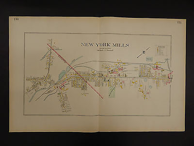 New York, Oneida County Map, 1907 New York Mills, Double Page R3#01