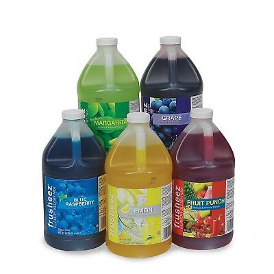 Frusheez Slush Mix  (6 - 1/2 gallons) 9 Flavors to Choose From