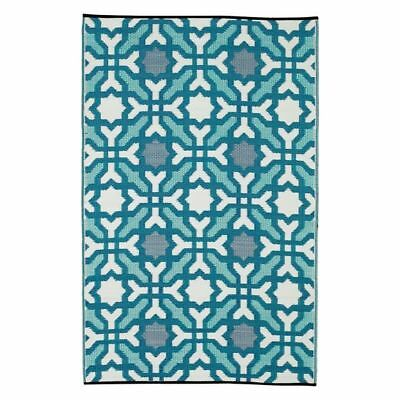 NEW FAB Rugs Seville Indoor/Outdoor Rug, Blue