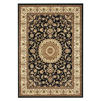 NEW Rug Culture Royal Medallion Oriental Rug in Black, Grey, Red