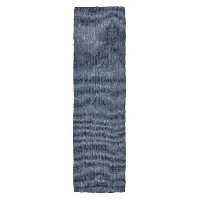 NEW Rug Culture Torpoint Chunky Weave Jute Runner Rug, Navy