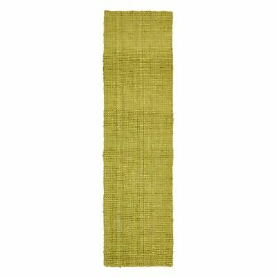 NEW Rug Culture Torpoint Chunky Weave Jute Runner Rug, Green