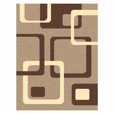 NEW Saray Rugs Groover Modern Rug in Beige, Brown, Grey, Red