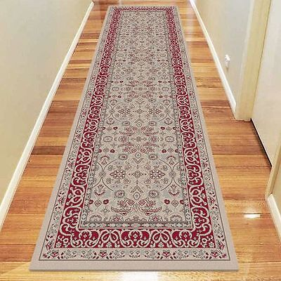 NEW Saray Rugs Khon Oriental Runner Rug in Beige, Black, Red