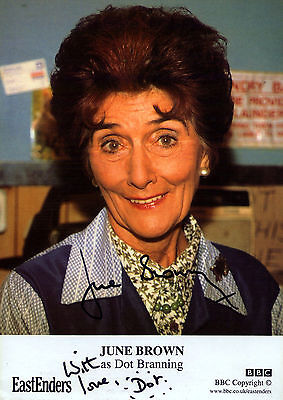 June Brown Dot Cotton Autograph Signed Photo Preprint Glossy Portrait Eastenders