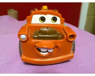 2005 Disney Pixar Cars Talking Rusty Tow Mater Shake And N' Go Tow Truck Toy