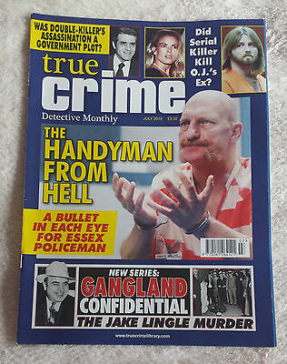 TRUE CRIME DETECTIVE MONTHLY MAGAZINE July 2016 Murder Police Criminal Case Law