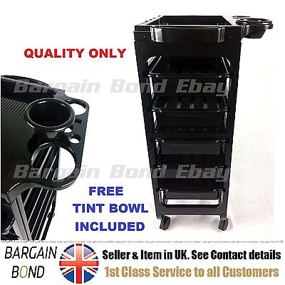 Salon Hairdresser Barber Beauty Storage Trolley Hair Drawers Roller Cart Spa NE