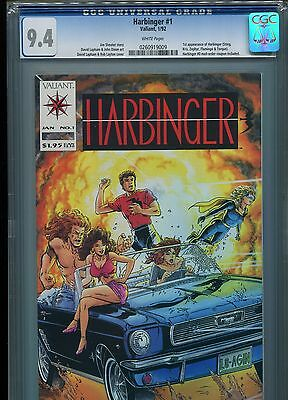 Harbinger #1 (1st Appearance)  CGC 9.4 White Pages