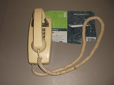 Retro Push Button Wall Telephone Vintage Style Corded Phone