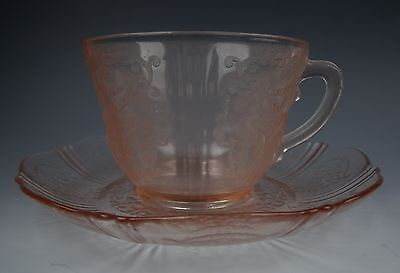 Macbeth-Evans Glass AMERICAN SWEETHEART-PINK Cup & Saucer Set(s) EXCELLENT