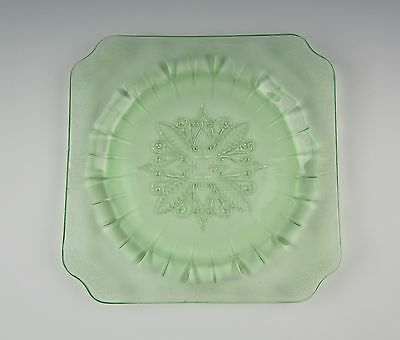 Jeannette Glass ADAM-GREEN Square Salad Plate(s) Excellent