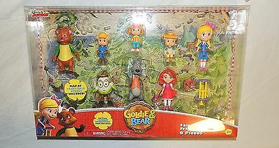 New Disney Junior Goldie & Bear Complete Set 9 Piece Humpty Wolf 3 Pigs Red