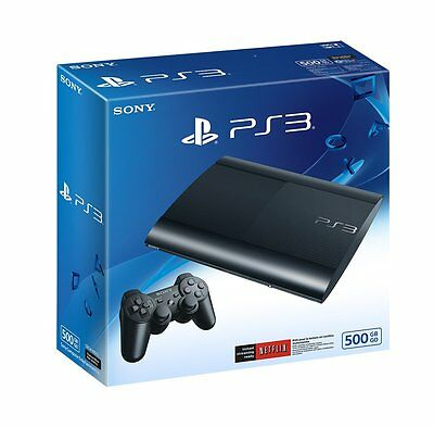 Sony PlayStation 3 PS3 500GB Super Slim Console, Charcoal Black, Brand New
