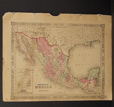 Johnson's Maps, 1864, Mexico O3#71