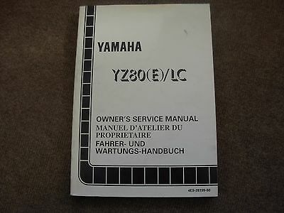 Yamaha YZ80 E LC  Motorcycle Service Manual - early 1990's
