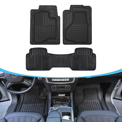 Auto Floor Mats for SUV Car - All Weather HD 3D Rubber Odorless Front & Rear Set