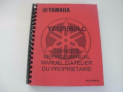 Yamaha YZ125 B LC Motorcycle Service Manual - early 1990's - 1991?