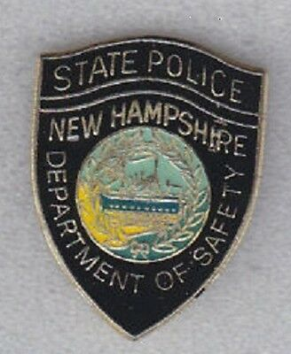 Nh  New Hampshire State Police Patch Mini Badge Pin - New Police Pin