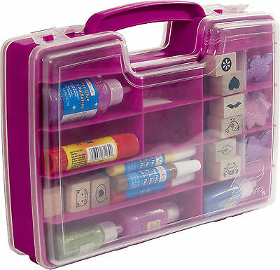 Plastic Craft Storage Case -Jewellery, Sewing, Art Boxes Gift Organiser Lids Box