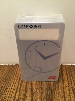 Pack of 50 Brand New ADP Kronos Employee Bar Code Time Cards Time Badges