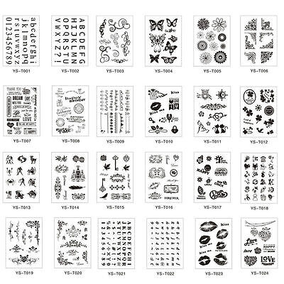 Fashion Alphabet Transparent Silicone Clear Rubber Stamp Cling Scrapbooking DIY