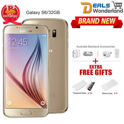 New Samsung Galaxy S6 G920F LTE 4G Mobile 32GB Gold Smartphone in Sealed Box